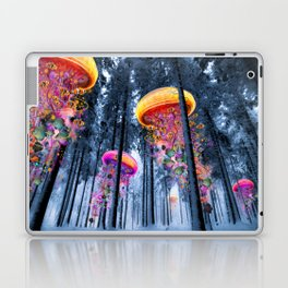 Winter Forest of Electric Jellyfish Worlds Laptop & iPad Skin