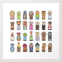 muppets Art Prints featuring Muppets by Big Purple Glasses