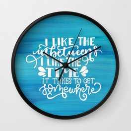 The Front Bottoms Ombre Lyrics Typography Wall Clock