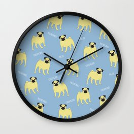 Pug Stuff Wall Clock