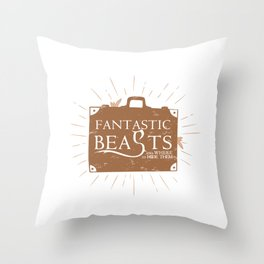 Beasts and where to HIDE them Throw Pillow
