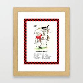 """2015 Bulldog Calendar """"Dinner Is Served"""" Framed Art Print"""