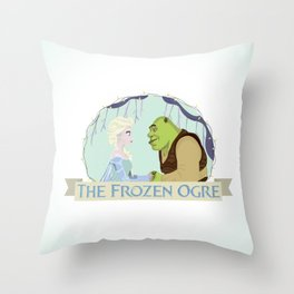 The Frozen Ogre Throw Pillow