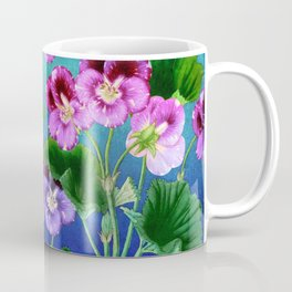 Pansies on Blue Coffee Mug