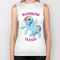 mlp Biker Tanks featuring MLP FiM: Rainbow Dash by Yiji