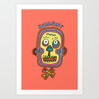 human Art Prints featuring Human  by PINT GRAPHICS