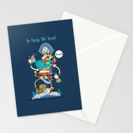 In Grog We Trust Stationery Cards