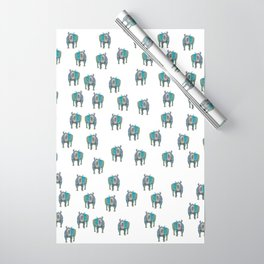 Rhino, Big Blue aka Puff Wrapping Paper