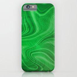 Green Swirl Marble iPhone Case