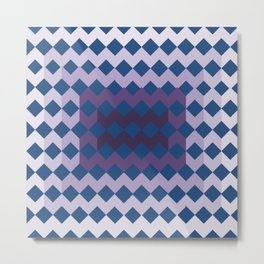 Blue Purple Quilt Metal Print