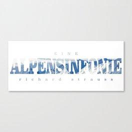Alpensinfonie typo' Canvas Print