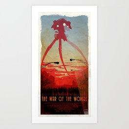 Movie Poster Inspired : The War of the Worlds Art Print