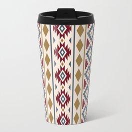 Aztec Essence Ptn III Red Blue Gold Cream Travel Mug