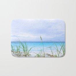 129. Grey sky and Blue water, Cuba Bath Mat
