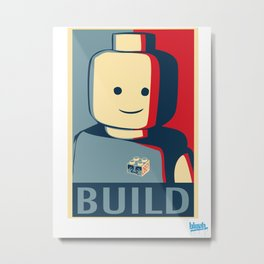 BUILD Metal Print