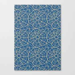 pearly spiderweb Canvas Print