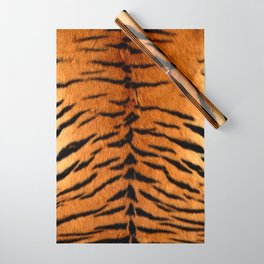 Faux Siberian Tiger Skin Design Wrapping Paper
