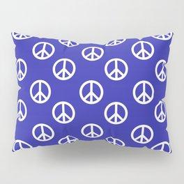 Peace (White & Navy Blue Pattern) Pillow Sham