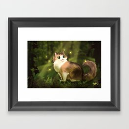 Fat Fat in the Forest Framed Art Print