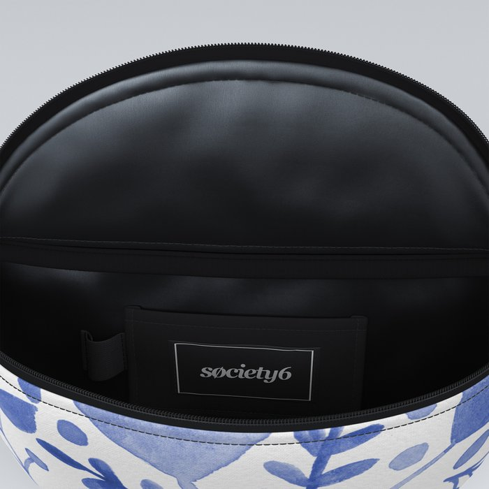 Branches and leaves - blue Fanny Pack