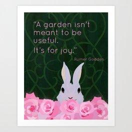 A Garden is for Joy Art Print