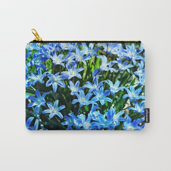 Blue Glory Snow Flowers Carry-All Pouch