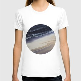 Marble in Blue and Ivories T-shirt