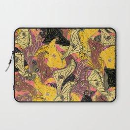 Butterfly Wings in Bold Yellow Laptop Sleeve