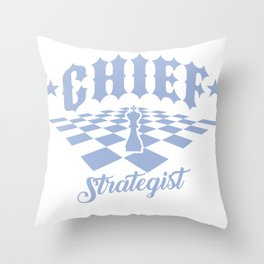 Chess Chief Strategist Chess Player Throw Pillow