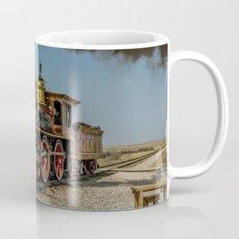 UP 119 Golden Spike Utah Steam Locomotive Historic Train Coffee Mug