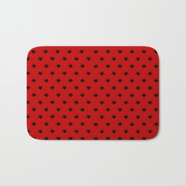 goat pattern red and black Bath Mat