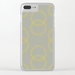 Simply Infinity Link Mod Yellow on Retro Gray Clear iPhone Case