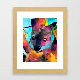 Wallaby Framed Art Print