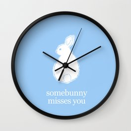 bunny one Wall Clock