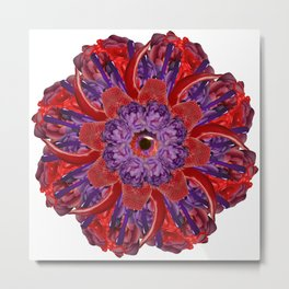 red-purple slime mandala Metal Print
