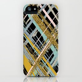 Criss Cross Glitter iPhone Case