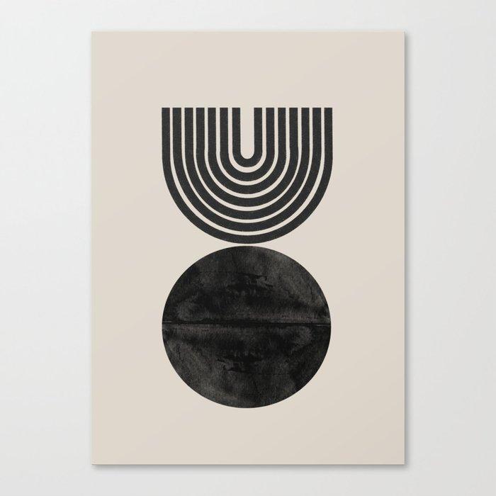 Woodblock Print, Modern Art Canvas Print