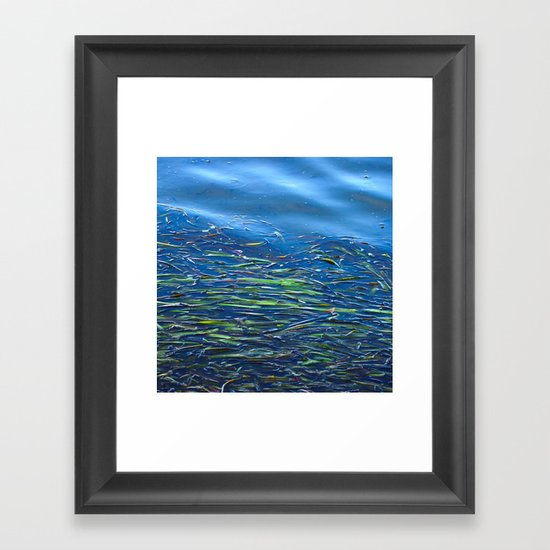 Blues and Greens Framed Art Print
