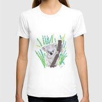 koala T-shirts featuring KOALA by Andrea Lacuesta Art