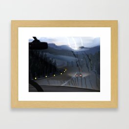 Freedom and Blue Framed Art Print
