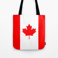 canada Tote Bags featuring Canada by McGrathDesigns