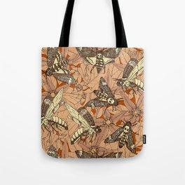 Death's-head hawkmoth rust Tote Bag