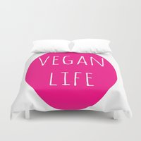 vegan Duvet Covers featuring Vegan Life by Love Libby X