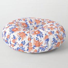 Florida floral orange and blue gators swamp varsity minimal university sports football fan Floor Pillow