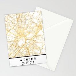 ATHENS GREECE CITY STREET MAP ART Stationery Cards