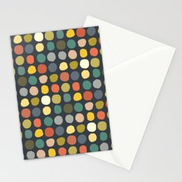 baby ikat spots charcoal Stationery Cards