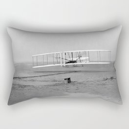 Wright Brothers First flight Kitty Hawk North Carolina December 17 1903 Rectangular Pillow