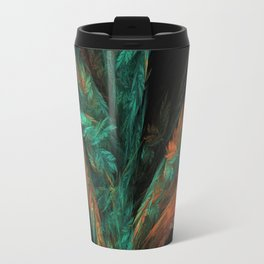 flora green fractal Travel Mug