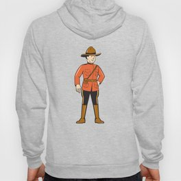 Mounted Police Officer Standing Front Hoody