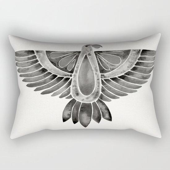 Black Parrot Rectangular Pillow
